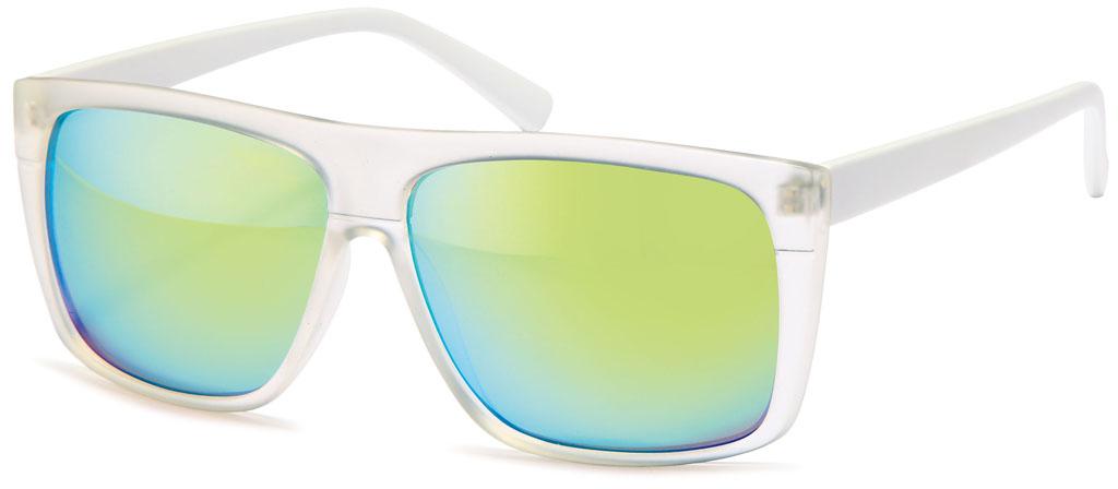 wayfarer sonnenbrille matt transparent gl ser verspiegelt schmale b gel kunststoffgestell. Black Bedroom Furniture Sets. Home Design Ideas