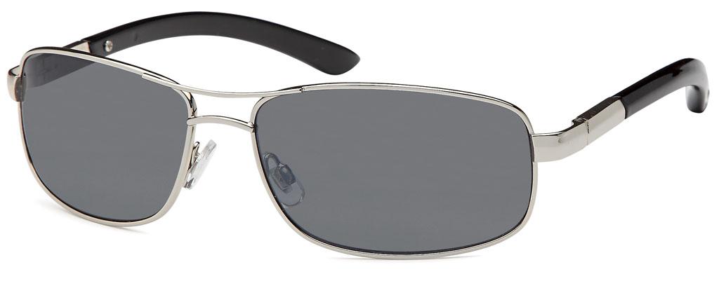 Elegante Metall Sonnenbrille mit braunen Gläsern QeDhAI9