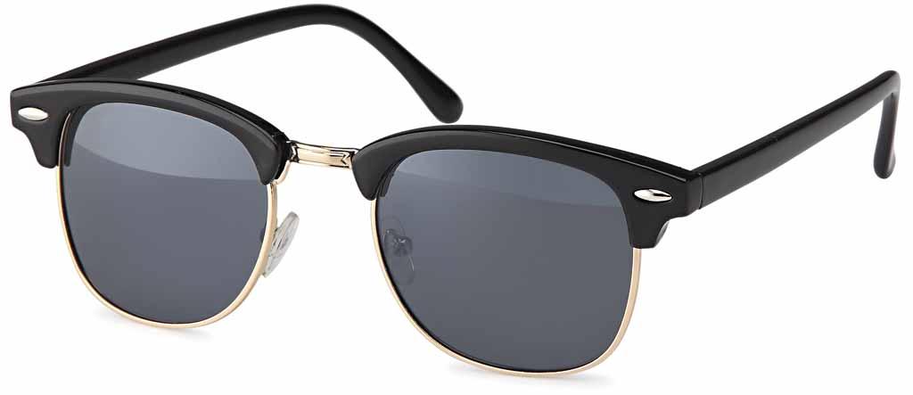 sonnenbrille mit polarisierenden gl sern im clubmaster stil. Black Bedroom Furniture Sets. Home Design Ideas