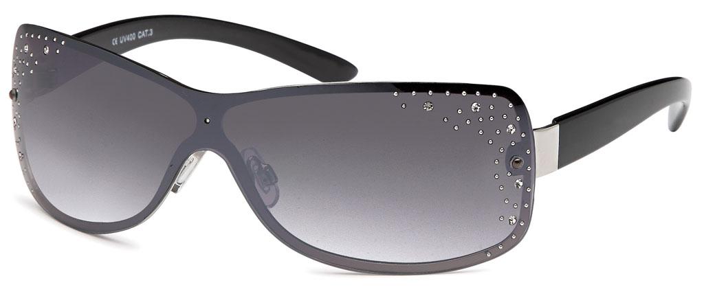 bd5c12ca318 Sonnenbrille Monoscheibe mit Straßsteinen