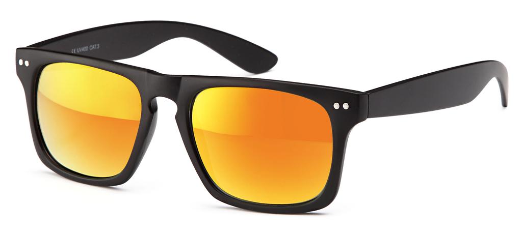 mattschwarze wayfarer sonnenbrille mit versch farbig verspiegelten revo gl sern enblack. Black Bedroom Furniture Sets. Home Design Ideas