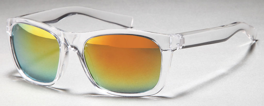transparente wayfarer sonnenbrille mit verspiegelten revo gl sern entransparent wayfarer. Black Bedroom Furniture Sets. Home Design Ideas