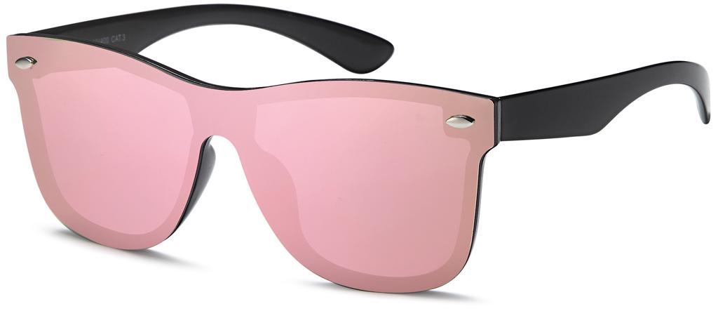 sonnenbrille mit monoscheibe flachglas verspiegelt in rosa. Black Bedroom Furniture Sets. Home Design Ideas